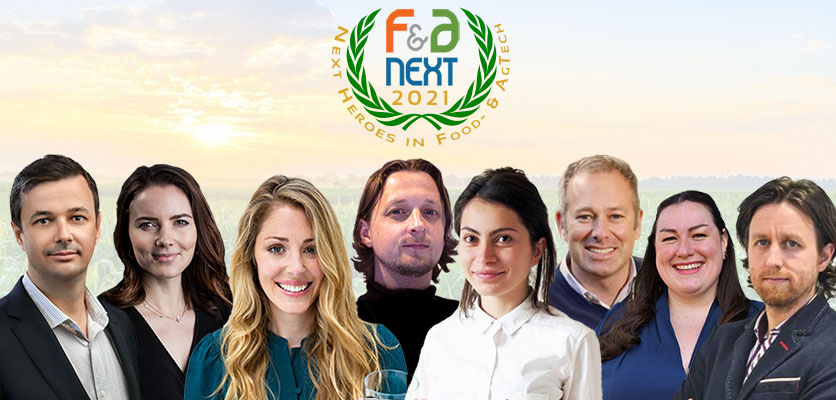 F&A Next Presents Eight 'Next Heroes in Food & Agtech 2021'